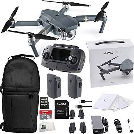 DJI Mavic Pro Collapsible Quadcopter Essentials Backpack Bundle