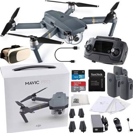 DJI Mavic Pro Collapsible Quadcopter Virtual Reality Ultimate Bundle
