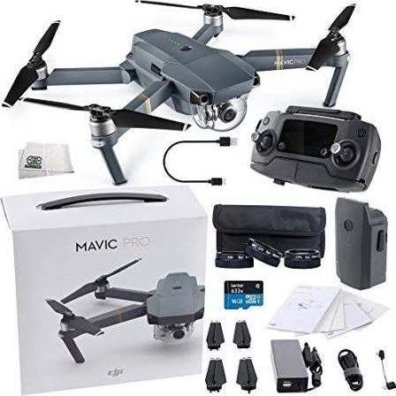 DJI Mavic Pro Collapsible Quadcopter Starters Videographer Bundle