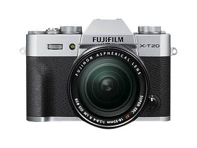 Fujifilm X-T20 Mirrorless Digital Camera with 16-50mm Lens (Silver)