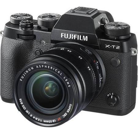 Fujifilm X-T2 Mirrorless Camera & XF 18-55mm f/2.8-4 R LM OIS Lens