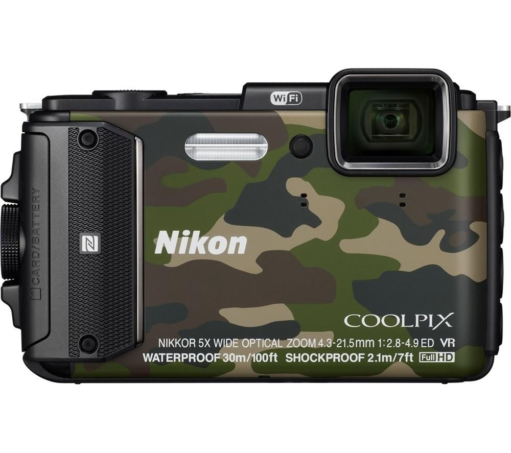 Nikon COOLPIX AW130 Waterproof Digital Camera (Camouflage)