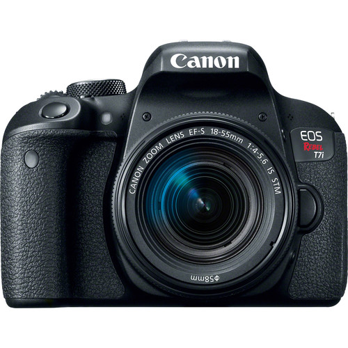 Canon EOS Rebel T7i DSLR Camera with Canon 18-55mm Lens